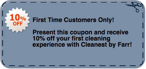 Cleanest By Farr discount coupon for cleaning services